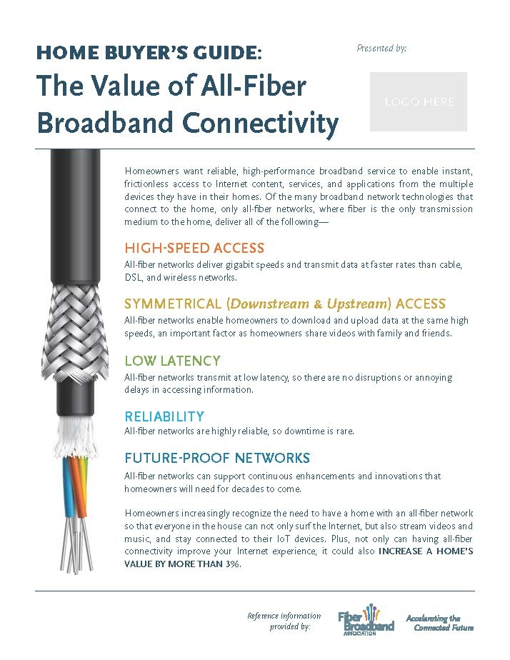 HOME BUYER'S GUIDE:The Value of All-Fiber Broadband Connectivity